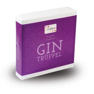 GIN Trüffel als 9er Präsent Verpackung der Esther Confiserie aus Kulmbach