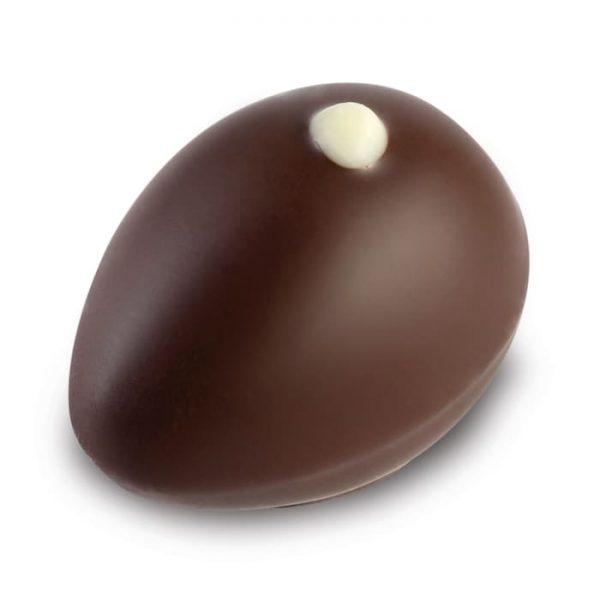 Nougat Praline in Zartbitter Schokolade in Eierform der Esther Confiserie