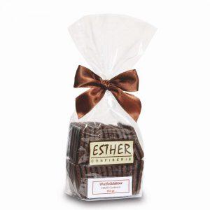 Waffelblätter Zartbitterschokolade im 150g Beutel der Esther Confiserie aus Kulmbach in Oberfranken