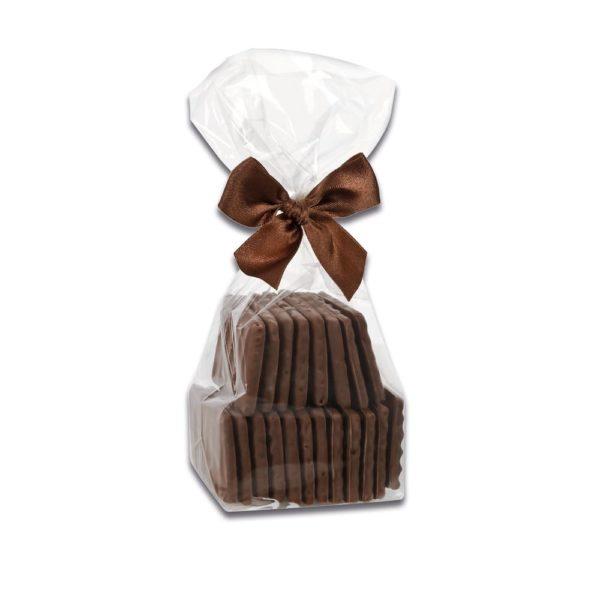150g Beutel mit Waffelblättern aus Vollmilchschokolade der Esther Confiserie