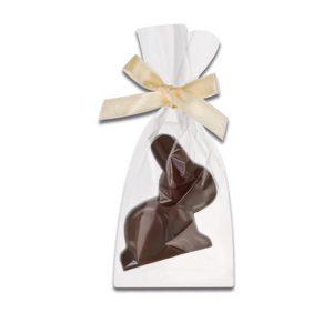 Schokoladenhase aus Zartbitterschokolade der Esther Confiserie aus Kulmbach