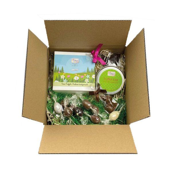 Osternest im Wert von 20 Euro der Esther Confiserie - Schokoladen und Pralinen handgemacht