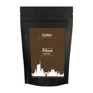 Vorderseite der Verpackung des Esther Espresso Milano - der köstlich kräftige Espresso von Esther aus Grafendobrach in Oberfranken
