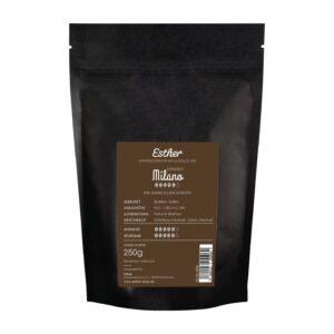 Rückseite der Verpackung des Esther Espresso Milano - der köstlich kräftige Espresso von Esther aus Grafendobrach in Oberfranken