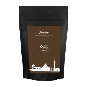 Vorderseite der Verpackung des Esther Kaffee Roma - der kräftige Kaffee von Esther aus Grafendobrach in Oberfranken